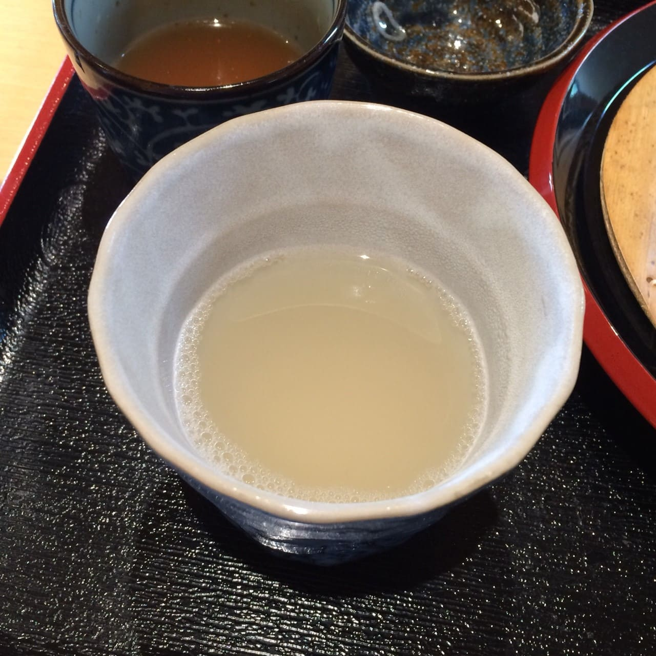 蕎麦湯の飲み方2
