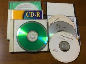 複数のCD-Rとケース